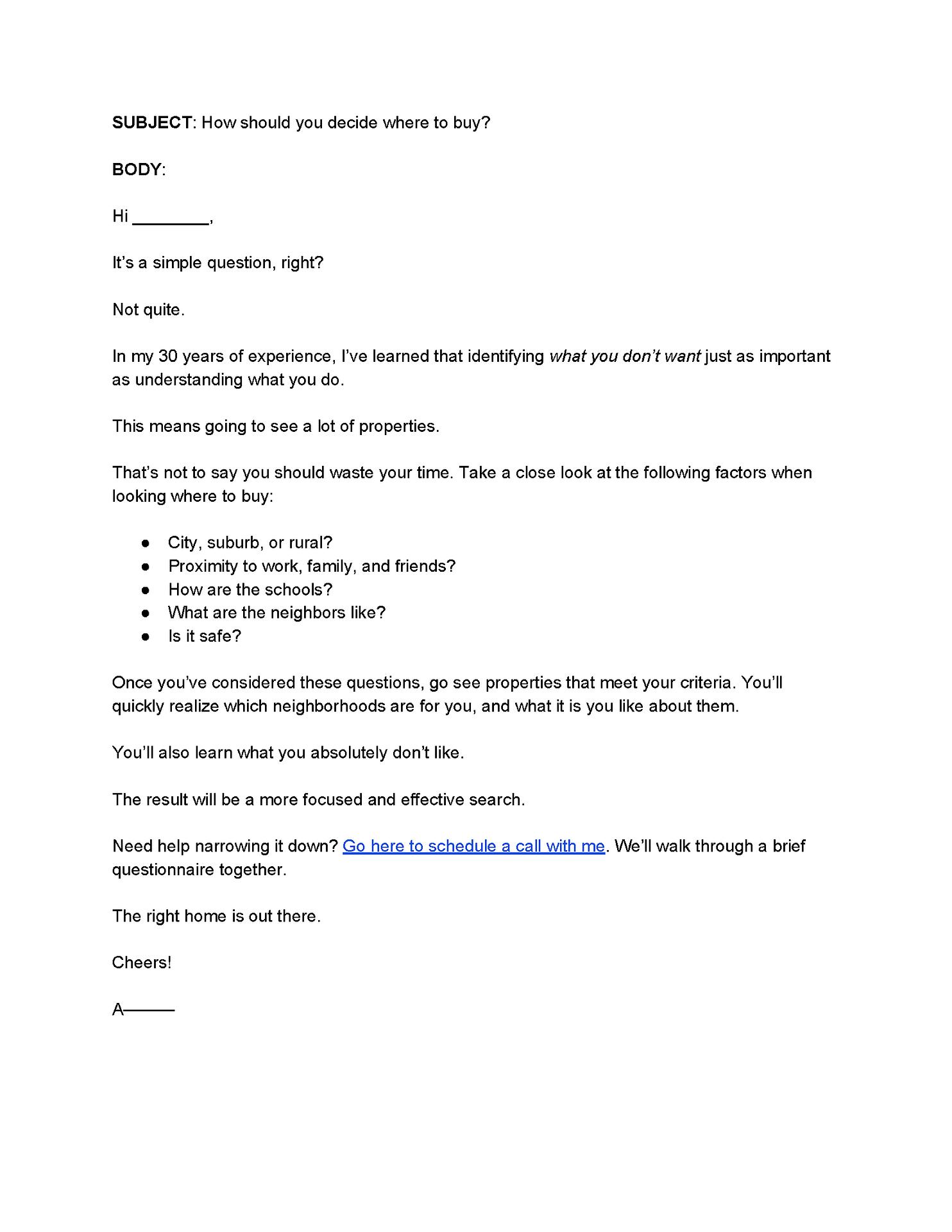 Lead Nurturing Email 3