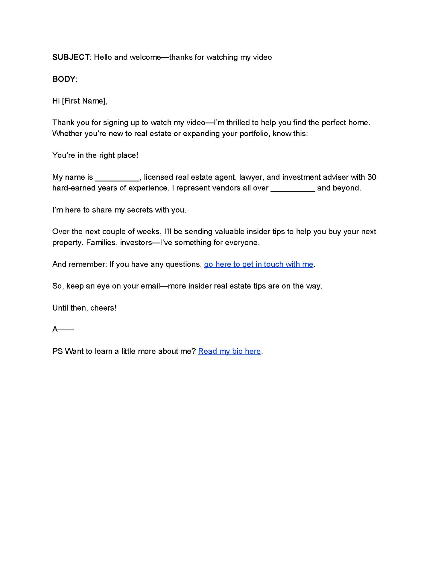 Lead Nurturing Email 1